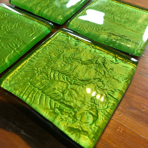 Green Fern Coasters - Set of 4