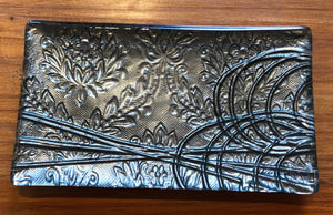 Gunmetal Grey Conformity  Glass Trinket Tray Southland New Zealand