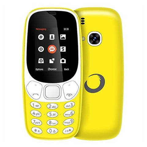 Telefono Cellulare BRIGMTON NTETMO0861 BTM-4-Y Dual SIM Movil Senior 1,7'''' Giallo