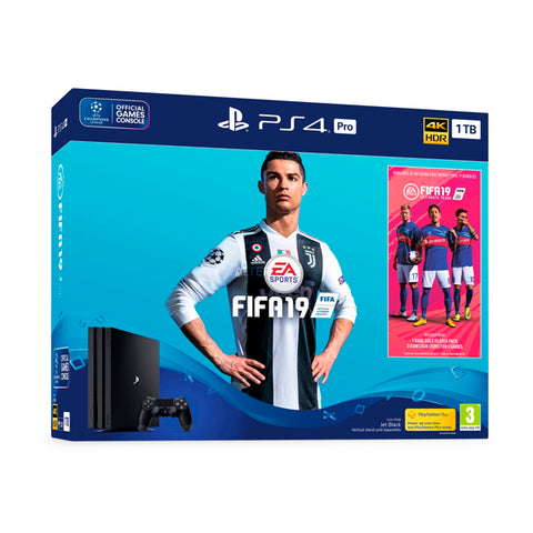 PlayStation 4 Pro + FIFA 19 Sony 63819 1 TB Nero
