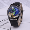hathor egyptian god 30 Meters Waterproof Quartz Fashion Watch With Black Genuine Leather Band