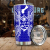 Polynesian Guam Blue All Over Print Tumbler