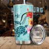 Hawaiian Sea Turtle Hibiscus Brilliant Polynesian All Over Print Tumbler
