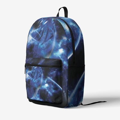 Blue Fairy Tail Logo  Retro Colorful Print Trendy Backpack