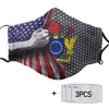 Cook Islands America Flag PM 2.5 FM Covered