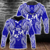 Polynesian Tonga Blue all over print