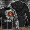 Tonga Coat Of Arms Polynesian Tattoo Style Blue all over print