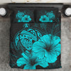 Hawaii Hawaiian Polynesian Turquoise Bedding Set All Over Printed