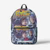 Back to the future Retro Colorful Print Trendy Backpack