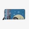 Nightmare Before Christmas - Ugly Sweater blue Unisex premium PU Leather Wallet