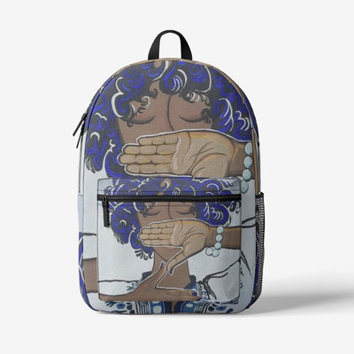 Zeta Phi Beta Retro Colorful Print Trendy Backpack