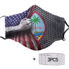 Guam America Flag PM 2.5 FM Covered