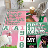 I earned my pearls 1908 Alpha Kappa Alpha Rug