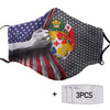 Tonga America Flag PM 2.5 FM Covered