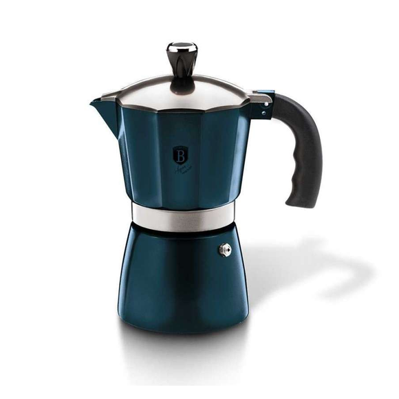 Berlinger Haus 2 Cup Aluminum Coffee Maker - Aquamarine Edition