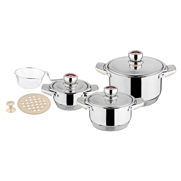 Berlinger Haus 9-Piece Stainless Steel Cookware Set - Thermo Control