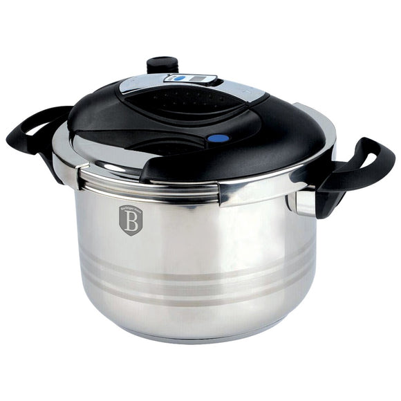 Berlinger Haus Stainless Steel 6L Turbo Pressure Cooker with Timer