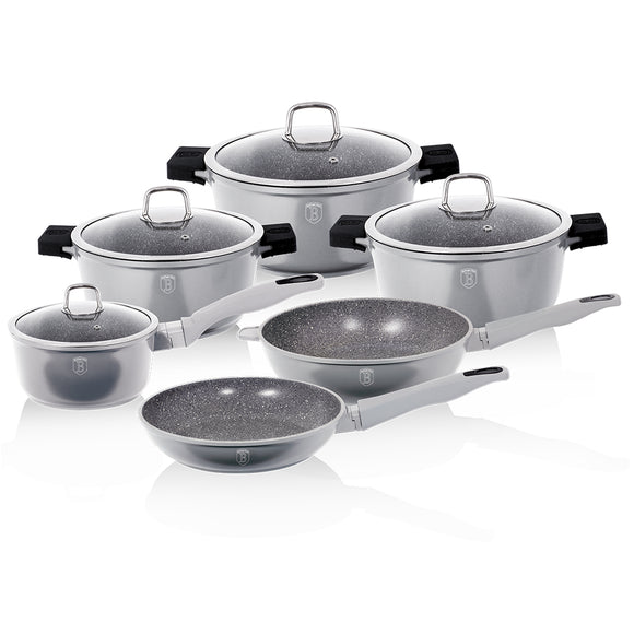 Berlinger Haus Granit Diamond Line 10-Piece Marble Coating Cookware Set