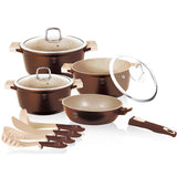 Berlinger Haus Granit Diamond Line 11-Piece Marble Coating Cookware Set