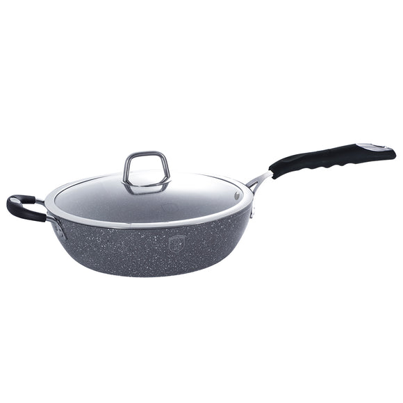 Berlinger Haus Stone Touch Line 24cm Marble Coating Deep Frypan
