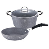 Berlinger Haus Stone Touch Line 3-Piece Marble Coating Frypan Set