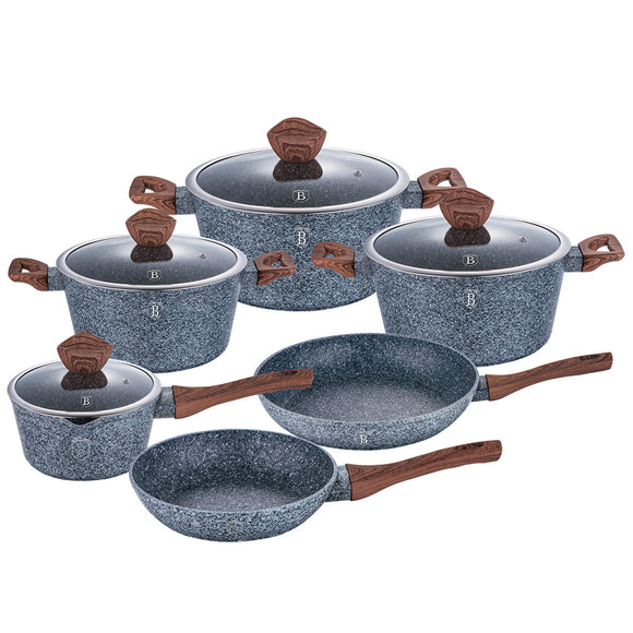 Berlinger Haus Forest Line 10-Piece Marble Coating Cookware Set