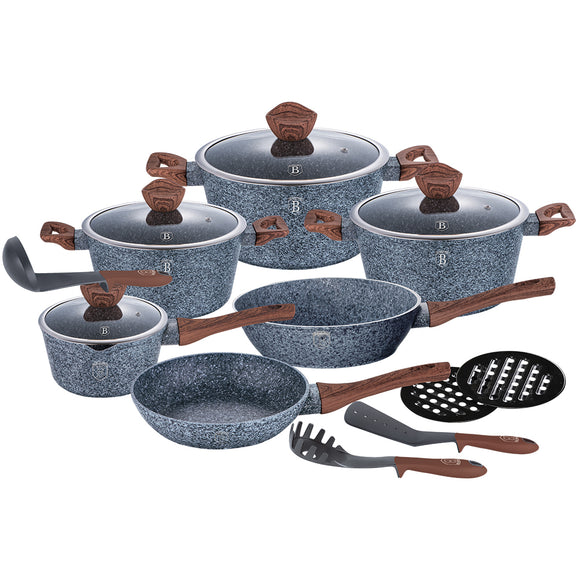 Berlinger Haus Forest Line 15-Piece Marble Coating Cookware Set