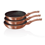 Berlinger Haus 3-Piece Marble Coating Frypan Set - Rose Gold
