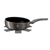Berlinger Haus 26cm Marble Coating Flip Frypan Carbon Metallic