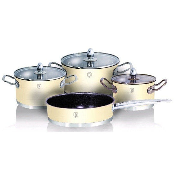 Berlinger Haus 7-Piece Cookware set - Cream Metallic
