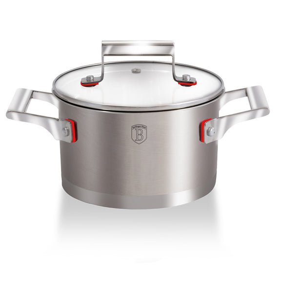 Berlinger Haus 20cm Stainless Steel Casserole Pot with Lid - Phantom Line