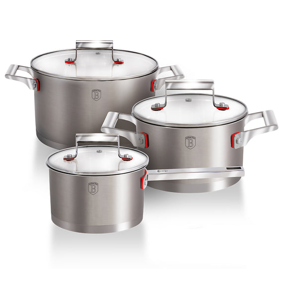 Berlinger Haus 6-Piece Stainless Steel Cookware Set Phantom Line