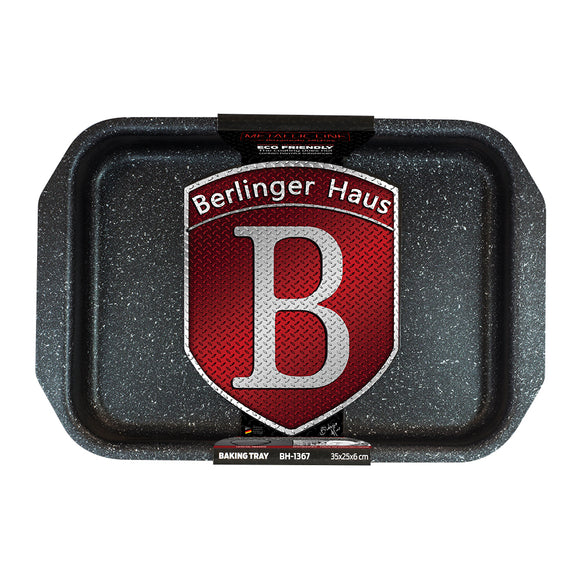 Berlinger Haus 35cm Marble Coating Baking Tray - Burgundy Metallic