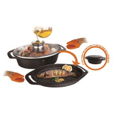 Berlinger Haus Granit Diamond Line 3-Piece Marble Coating Oval Roaster Set