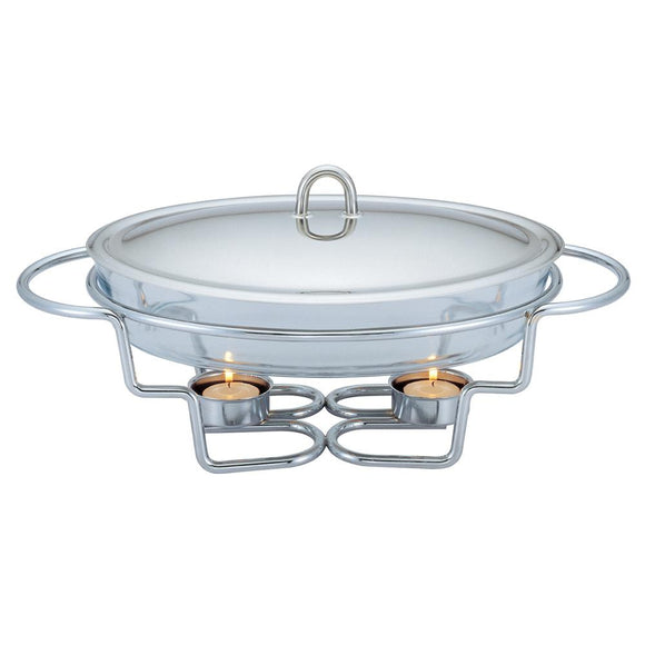 Berlinger Haus 3L Tempered Glass Food Warmer - Oval