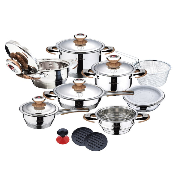 Berlinger Haus 19-Piece Stainless Steel Cookware Set - Thermo Control