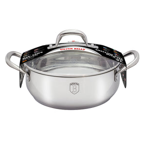Berlinger Haus 32cm Stainless Steel Shallow Pot - Silver Belly Collection