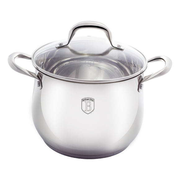 Berlinger Haus Silver Belly Collection 20cm Stock Pot