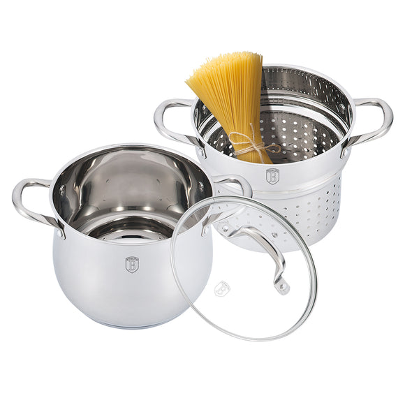 Berlinger Haus 3-Piece Silver Belly Collection Pasta Set