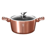 Berlinger Haus 20cm Marble Coating Casserole with Lid - Rose Gold