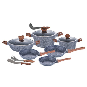 Berlinger Haus Forest Line 12-Piece Marble Coating Cookware Set