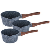 Berlinger Haus 3-Piece Marble Coating Sauce Pan Set