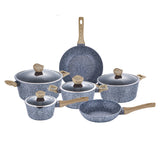 Berlinger Haus Light Wood 10-Piece Marble Coating Cookware Set