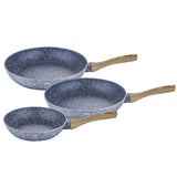 Berlinger Haus 3-Piece Marble Coating Frypan Set