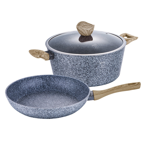 Berlinger Haus Light Wood 3-Piece Marble Coating Cookware Set