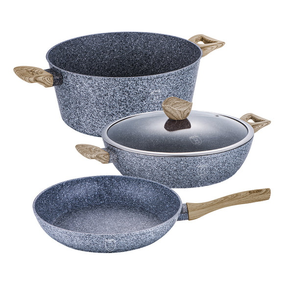 Berlinger Haus 4-Piece Marble Coating Cookware Set