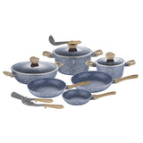 Berlinger Haus Light Wood 12-Piece Marble Coating Cookware Set