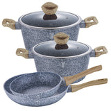 Berlinger Haus Light Wood 6-Piece Marble Coating Cookware Set
