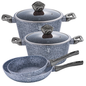 Berlinger Haus Smoked Wood 6-Piece Marble Coating Cookware Set