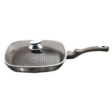 Berlinger Haus 28cm Marble Coating Grill Pan with Lid Carbon Metallic